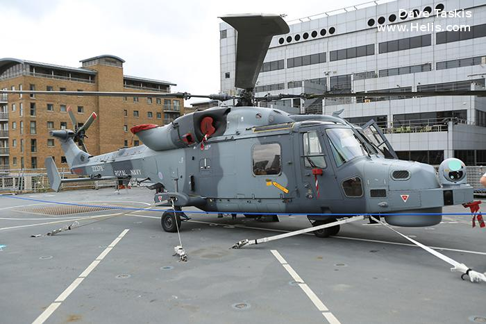 Helicopter AgustaWestland AW159 Wildcat HMA2 Serial 495 Register ZZ376 used by Fleet Air Arm (Royal Navy). Aircraft history