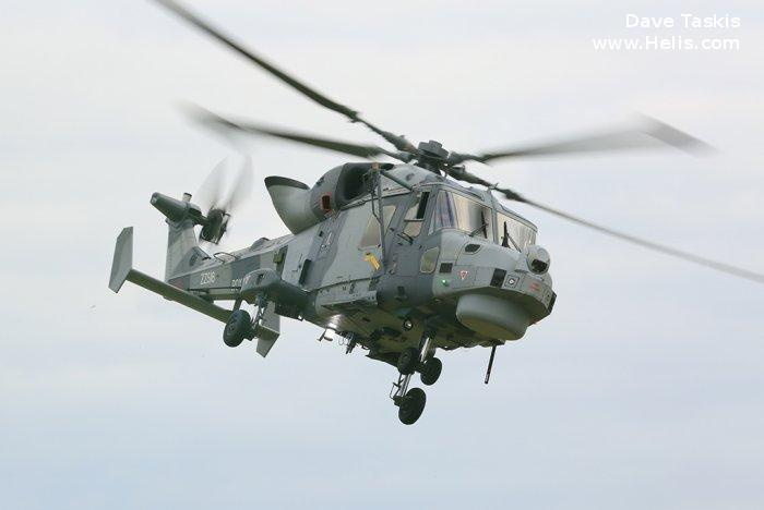 Helicopter AgustaWestland AW159 Wildcat HMA2 Serial 521 Register ZZ516 used by Fleet Air Arm RN (Royal Navy). Built 2015. Aircraft history and location