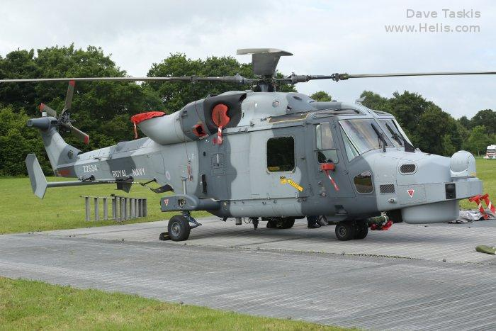 Helicopter AgustaWestland AW159 Wildcat HMA2 Serial 543 Register ZZ534 used by Fleet Air Arm (Royal Navy). Aircraft history and location