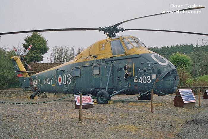 Helicopter Westland Wessex HAS.1 Serial wa267 Register XS887 used by Fleet Air Arm (Royal Navy). Built 1966. Aircraft history