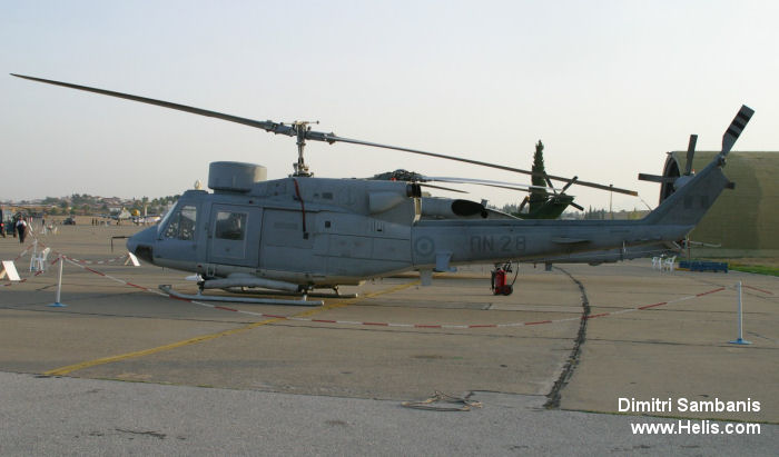 Helicopter Agusta AB212 ASW Serial 5174 Register PN28 used by Elliniko Polemiko Nautiko (Hellenic Navy). Aircraft history