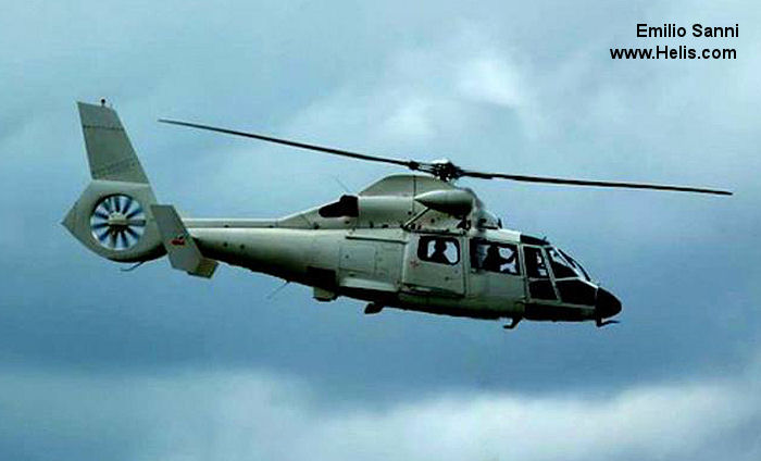 Helicopter Eurocopter AS365N2 Dauphin 2 Serial 6416 Register 092 EC-HCL SE-JAE used by Fuerza Aerea Uruguaya FAU (Uruguayan Air Force) ,Administraciones Locales Xunta de Galicia (Galicia Government) ,INAER ,Helicsa ,helikopterservice ab. Built 1991. Aircraft history and location