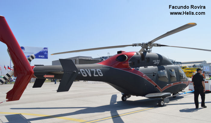 Helicopter Bell 429WLG Serial 57150 Register C-GVZG used by Bell Helicopter Canada. Built 2013. Aircraft history