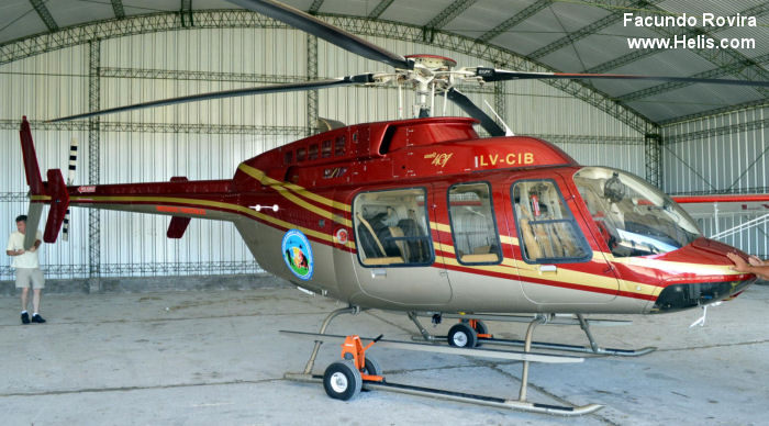 Helicopter Bell 407 Serial 53998 Register LV-CIB N412UB C-GERZ used by Gobierno Nacional (Federal Government) Bell Helicopter Bell Helicopter Canada. Built 2010. Aircraft history and location