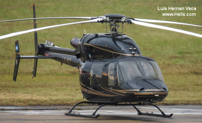 Helicopter Bell 427 Serial 56042 Register LQ-BIZ N427BH N421KE used by Gobiernos Provinciales (Provincial Governments). Built 2003. Aircraft history and location
