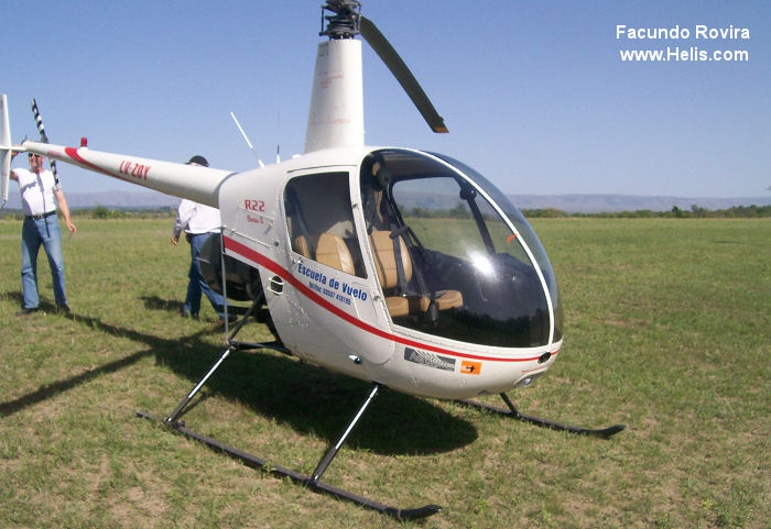 Helicopter Robinson R22 Beta II Serial 2867 Register LV-ZOY. Aircraft  history