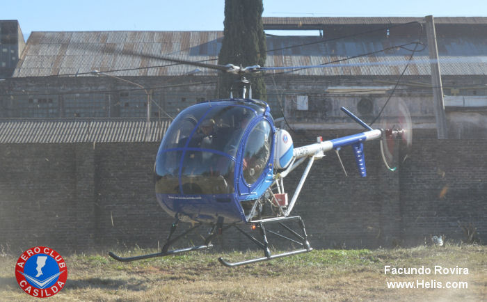 Helicopter Schweizer 300C Serial S1601 Register LV-AFB LQ-AFB N3623Y used by Policias Provinciales (Argentine Provinces Police Units). Built 1992. Aircraft history and location