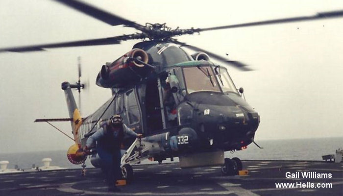 Helicopter Kaman SH-2F Seasprite Serial 226 Register 161915 used by US Navy (United States Naval Aviation). Built 1985. Aircraft history and location
