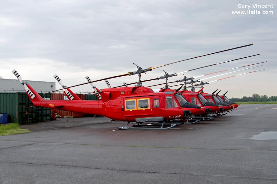 Helicopter Bell 212 Serial 30536 Register C-FDOF used by Canadian Coast Guard. Built 1972. Aircraft history and location