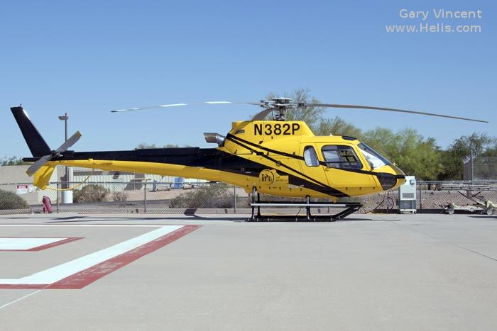 Helicopter Airbus Helicopters H125 / AS350B3e Ecureuil Serial 7920 Register N382P N213AH used by PHI Air Medical ,Airbus Helicopters Inc (Airbus Helicopters USA). Built 2014. Aircraft history and location