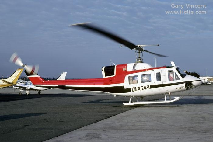 Helicopter Bell 212 Serial 31128 Register N82WP N222AK D-HMAD C-GQHI. Built 1980. Aircraft history and location
