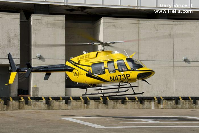 Helicopter Bell 407GXP Serial 54648 Register N472TX N473P N97TZ used by Mother Frances Hospital ,PHI Air Medical ,Bell Helicopter. Built 2015. Aircraft history and location