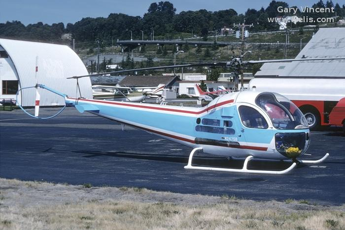 Helicopter Bell 47H Serial 1359 Register C-FJWF N2475B. Built 1955. Aircraft history and location