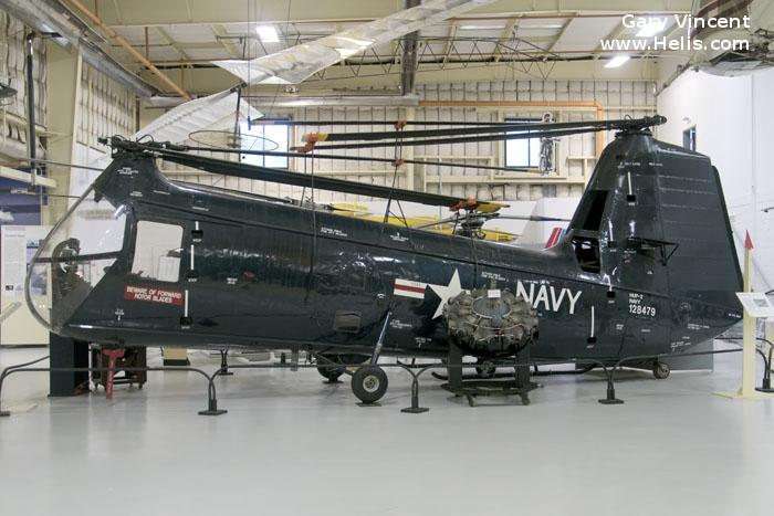 Helicopter Piasecki HUP-2 / UH-25B	 Retriever Serial 33 Register 128479 used by US Navy USN (United States Naval Aviation). Aircraft history and location