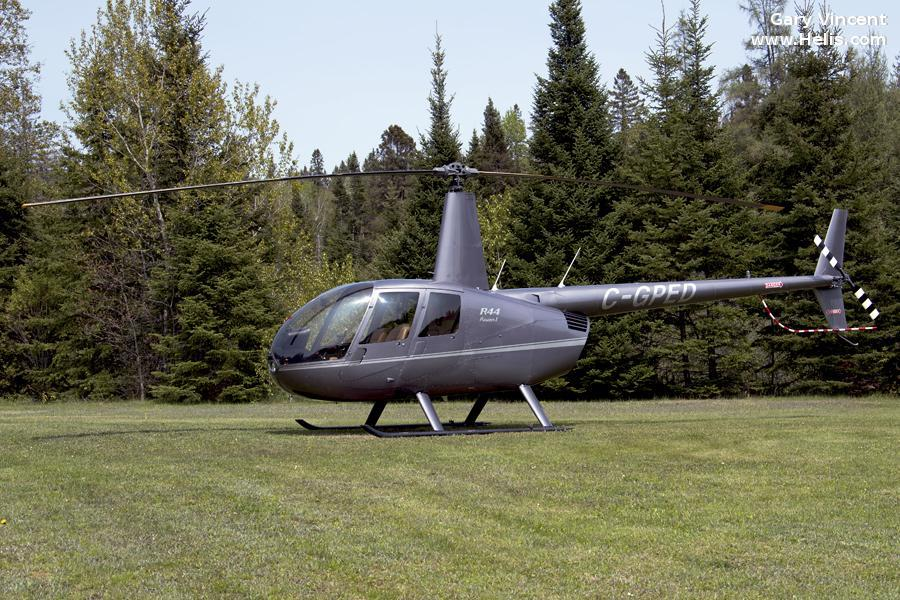 Helicopter Robinson R44 Raven Serial 2347 Register C-GPED. Built 2014. Aircraft history and location