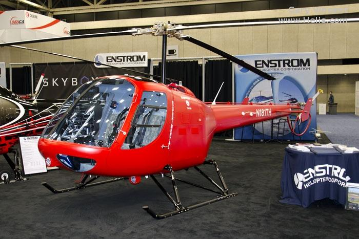Helicopter Enstrom TH-180 Serial 10002 Register N181TH used by Enstrom. Built 2016. Aircraft history and location