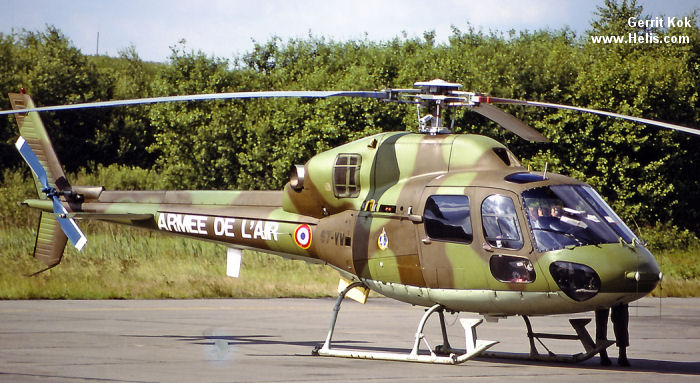 Helicopter Aerospatiale AS555AN Fennec 2 Serial 5466 Register 5466 used by Armée de l'Air (French Air Force). Aircraft history and location