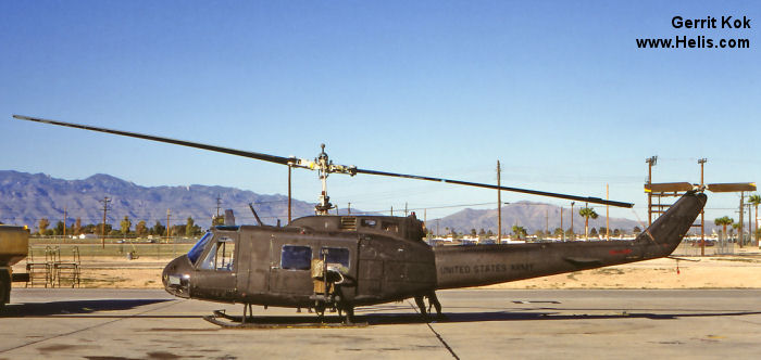Helicopter Bell UH-1H Iroquois Serial 11551 Register 69-15263 used by US Air Force US Army Aviation. Aircraft history and location