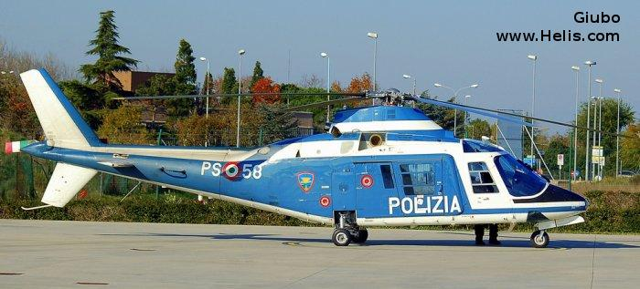 Helicopter Agusta A109A-II Serial 7294 Register MM81640 used by Polizia di Stato (Italian Police). Aircraft history and location