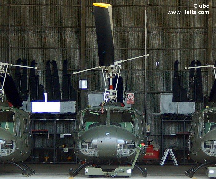Helicopter Agusta AB205A-1 Serial 4200 Register MM80560 used by Aviazione dell'Esercito (Italian Army  Aviation). Aircraft history