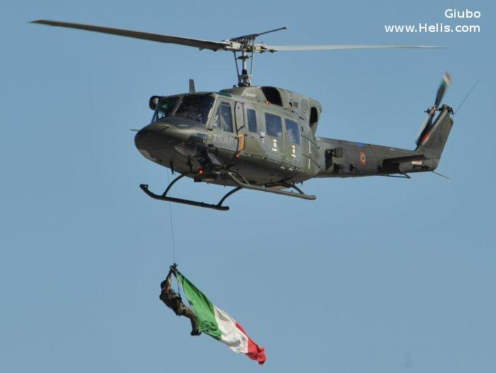 Helicopter Agusta AB212 ICO Serial 5832 Register MM81217 used by Aeronautica Militare Italiana (Italian Air Force). Aircraft history