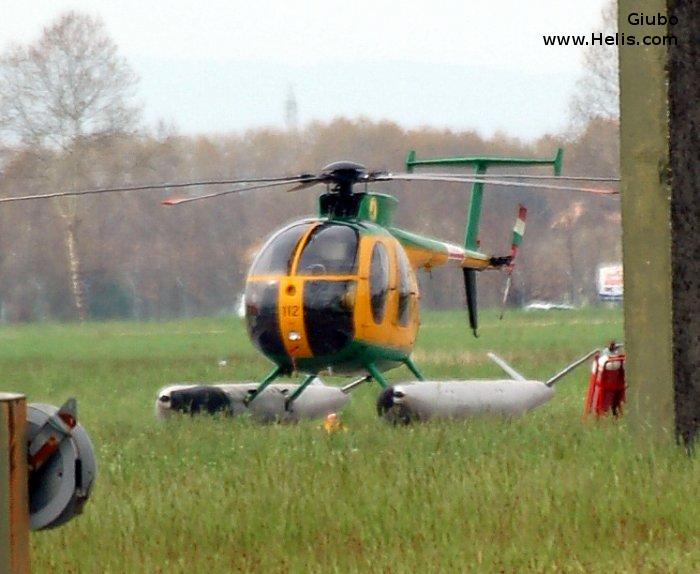 Helicopter Breda Nardi NH500MD Serial 107 Register MM81070 used by Guardia di Finanza (Italian Customs Police). Aircraft history and location