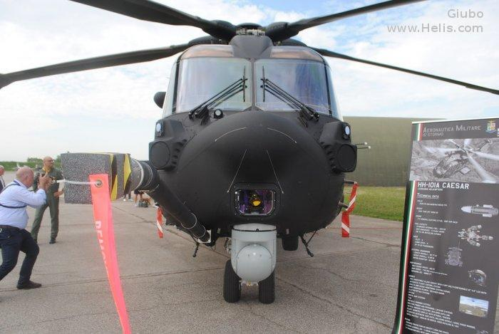 Helicopter AgustaWestland AW101 611 Serial 50263 Register MM81869 used by Aeronautica Militare Italiana AMI (Italian Air Force). Built 2016. Aircraft history and location