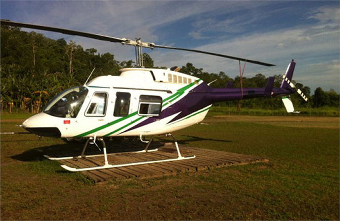 Helicopter Bell 206L-3 Long Ranger Serial 51416 Register N254EV P2-HCU used by Evergreen Helicopters. Built 1990. Aircraft history