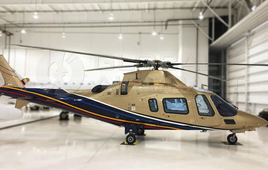 Helicopter AgustaWestland AW109E Power Serial 11793 Register N869VP PP-CRM. Built 2010. Aircraft history