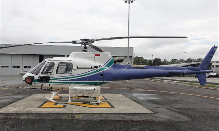 Helicopter Eurocopter AS350B3 Ecureuil Serial 3374 Register P2-HCL PK-FUC SE-JFO used by Cassel Aero. Built 2000. Aircraft history