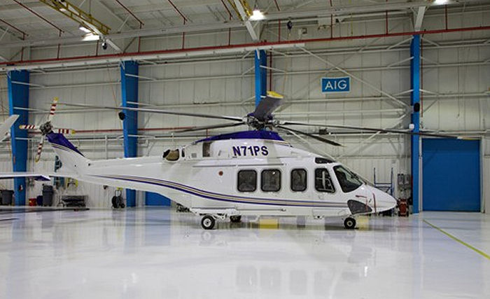 Helicopter Agusta AB139 Serial 31021 Register N139HF N71PS N47WS used by HeliFlite. Built 2005. Aircraft history and location