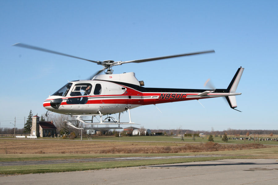 Helicopter Aerospatiale AS350D Astar Serial 1396 Register N5779Y N89DC. Built 1980. Aircraft history