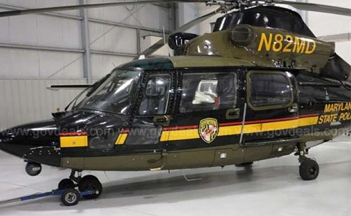 Helicopter Eurocopter AS365N3 Dauphin 2 Serial 6550 Register N82MD used by McDermott Aviation ,State of Utah ,MSP (Maryland State Police). Built 1998. Aircraft history and location