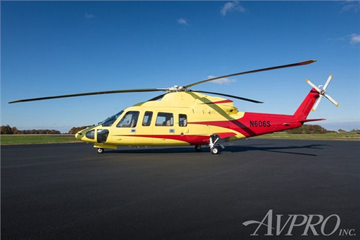 Helicopter Sikorsky S-76C Serial 760600 Register C-FLFT N606S N70936 N734P used by Canadian Helicopters Ltd Sikorsky Helicopters. Built 2005. Aircraft history