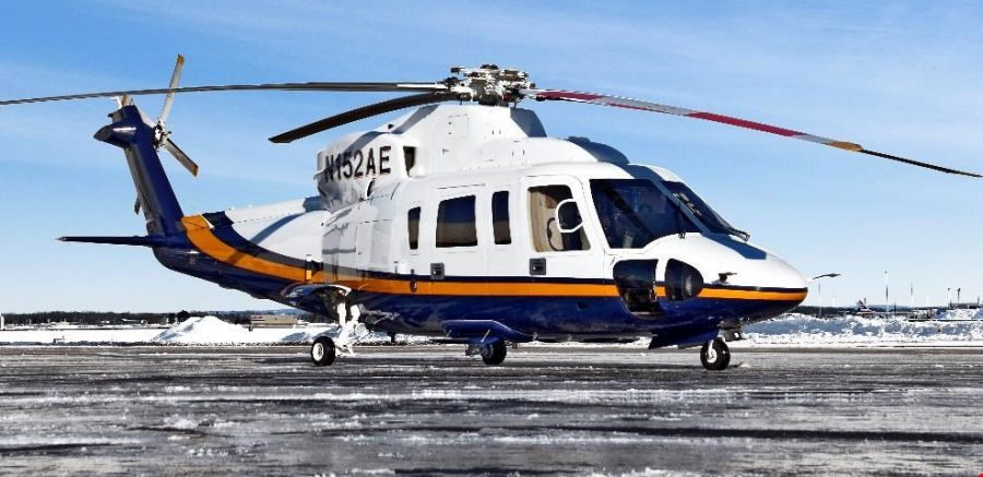 Helicopter Sikorsky S-76C Serial 760714 Register N152AE N714F. Built 2008. Aircraft history