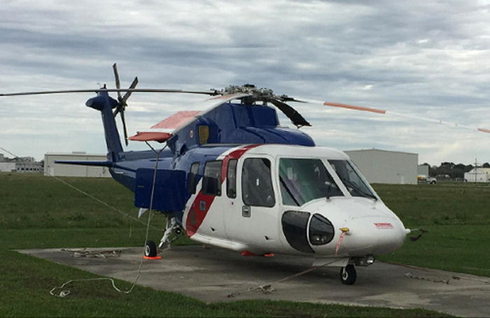 Helicopter Sikorsky S-76C Serial 760580 Register N868AL used by Bristow US ,CFS Air ,Air Logistics. Built 2004. Aircraft history and location
