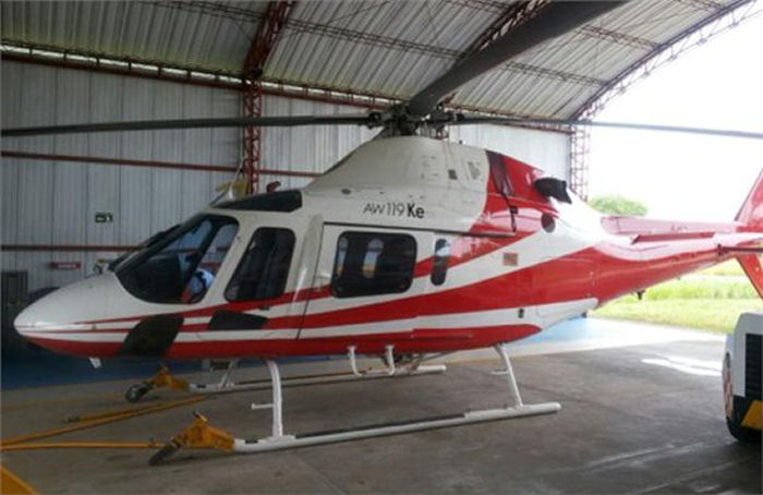 Helicopter AgustaWestland AW119Ke Koala Serial 14747 Register HK-4697 N343SH used by Helicol. Built 2009. Aircraft history