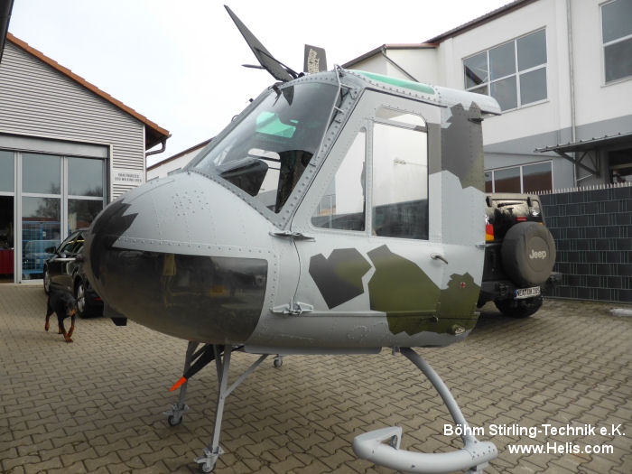 Helicopter Dornier UH-1D Serial 8179 Register 71+19 used by Böhm Stirling-Technik e.K. Luftwaffe (German Air Force). Aircraft history and location