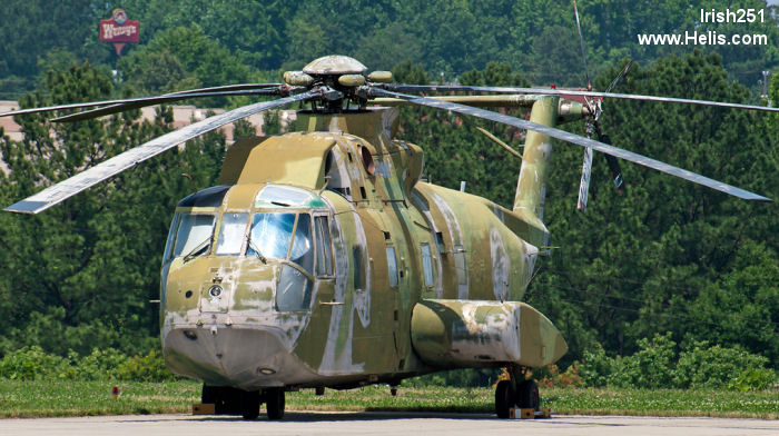 Helicopter Sikorsky CH-3C Serial 61-572 Register 65-12797 used by US Air Force USAF. Aircraft history and location