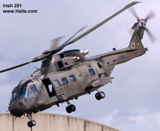 Helicopter AgustaWestland Merlin HC.3 Serial 50083 Register ZJ120 used by Fleet Air Arm RN (Royal Navy) ,Royal Air Force RAF. Built 2000. Aircraft history and location