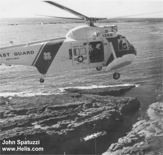 Helicopter Sikorsky HH-52A Sea Guard Serial 62-047 Register 1369 used by US Coast Guard. Aircraft history and location