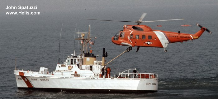 Helicopter Sikorsky HH-52A Sea Guard Serial 62-092 Register 1407 used by US Coast Guard. Aircraft history and location