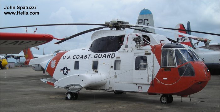 Helicopter Sikorsky HH-3F Pelican Serial 61-663 Register 1486 used by US Coast Guard. Built 1972. Aircraft history and location