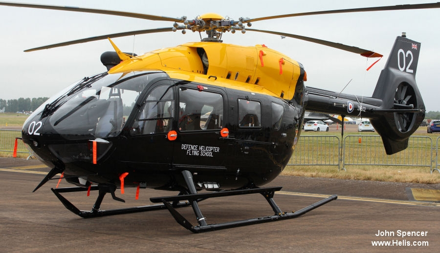 Helicopter Airbus Helicopters H145 / EC145T2 Serial 20133 Register ZM502 G-CJRW used by Ministry of Defence (MoD) Airbus Helicopters UK. Built 2017. Aircraft history and location
