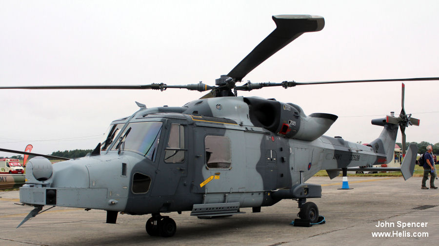 Helicopter AgustaWestland AW159 Wildcat AH1 Serial 527 Register ZZ520 used by Army Air Corps (British Army). Aircraft history and location