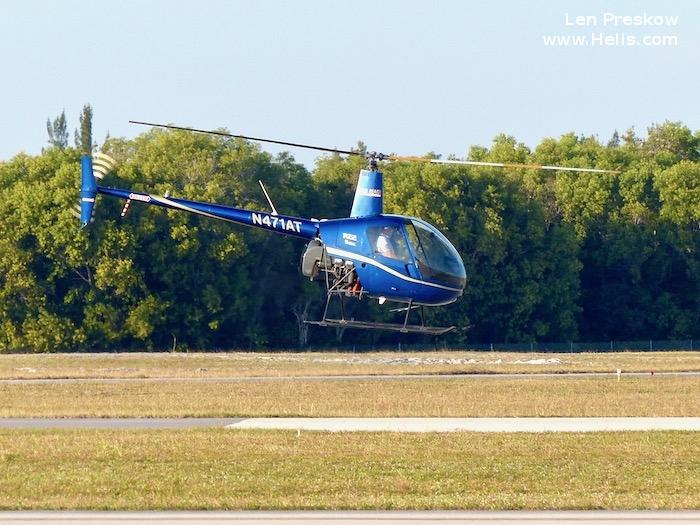 Helicopter Robinson R22 Beta Serial 0737 Register N36FH N471AT used by State of Florida. Aircraft history