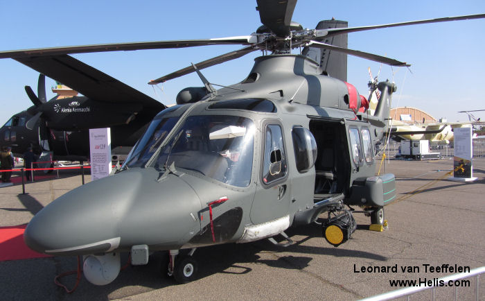 Helicopter AgustaWestland AW139M Serial 31403 Register MM81796 CSX81796 used by Aeronautica Militare Italiana AMI (Italian Air Force) ,AgustaWestland Italy. Built 2012. Aircraft history and location