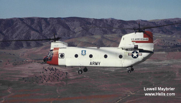 Helicopter Boeing-Vertol CH-47A Chinook Serial b-007 Register 60-03448 used by US Army Aviation Army. Aircraft history and location