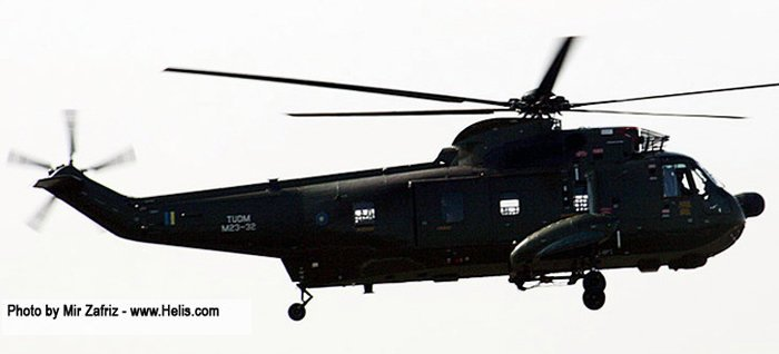 Helicopter Sikorsky S-61A-4 Nuri Serial 61-799 Register M23-32 used by Tentara Udara Diraja Malaysia RMAF (Royal Malaysian Air Force). Aircraft history and location