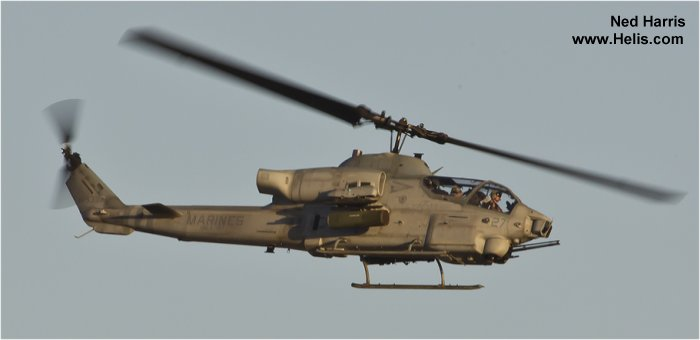 Helicopter Bell AH-1W Super Cobra Serial unknown Register 165392 used by US Marine Corps. Aircraft history and location